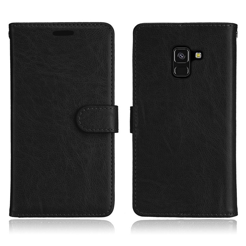 mobiletech-samsung-a8-2018-pu-leather-wallet-case-black